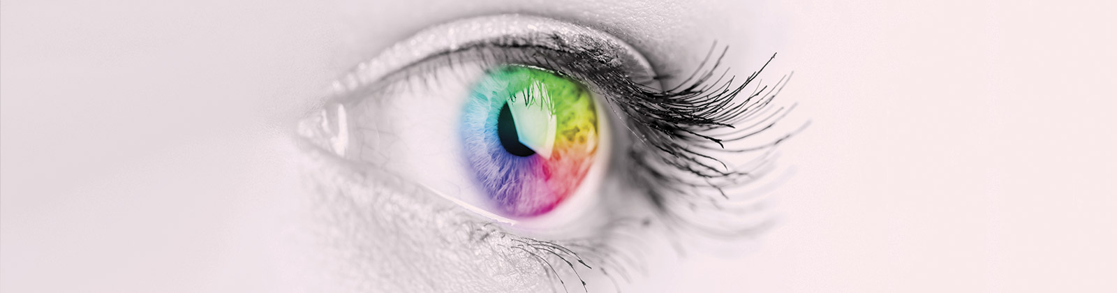 Eye with rainbow