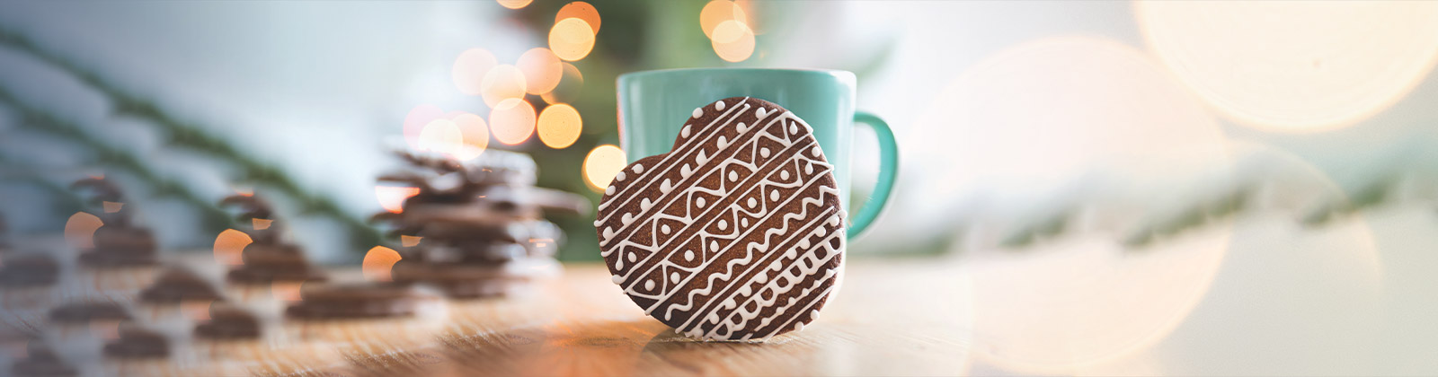 Chocolate heart with cup