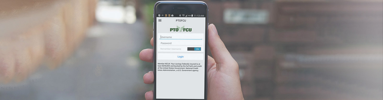Mobile device with PTOFCU face